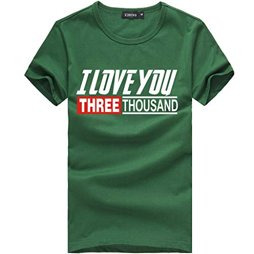 - OrchidAmor Fashion Men's Swag Pattern Tees T-Muscle Tank Top Shirt Short Sleeve Top Blouse 2019 Summer Green