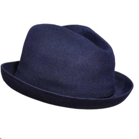 Fedora Kangol Hats (Kangol Little Boys' Tropic Player Hat, Navy, Small)
