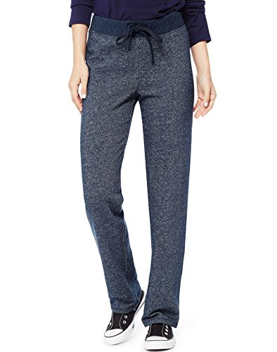 Hanes Women's French Terry Pant, Navy Heather, Medium