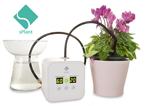 sPlant Micro Automatic Drip Irrigation Kit, Self-Watering Stakes, Auto Watering for Indoor Potted plant,Watering Can Indoor,Time Self Watering for Houseplant,Vacation Plant Watering System by sPlant