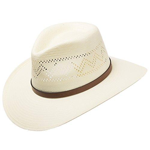 (HAVANA Fedora Vented Panama Outback Straw Hat Ultrafino 7 1/8)