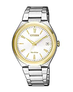 Citizen Women's Solar Powered Wrist watch, stainless steel Bracelet analog Display and Stainless Steel Strap, FE6024-55B