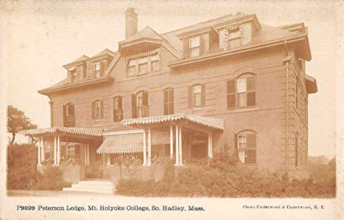 (So Hadley Massachusetts Mt Holyoke College Peterson Lodge Real Photo PC JC932011)