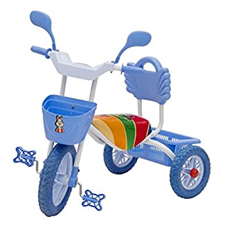 b0f8aab737f Buy STEPUPP Kid's Plastic/Steel/Iron Blue Tricycle with Front and Back  Basket /Musicals (Year-1, 2, 3, 4, 5) Online at Low Prices in India -  Amazon.in