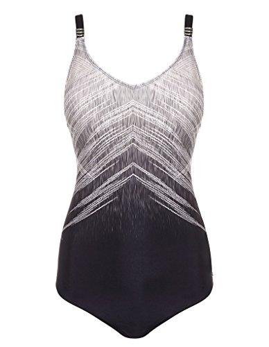 Seaspray 12-2808 Women\'s Manhattan Black and Grey Shaping Swimsuit B06XNL5CN5