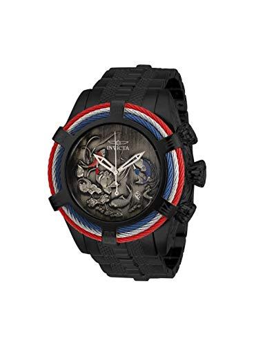 Invicta Bolt - Invicta Men's Bolt Quartz Watch with Stainless Steel Strap, Black, 26 (Model: 28204)