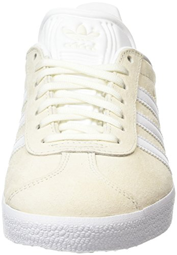 Adulte White Blanc Basses off Met Baskets Mixte Adidas Gazelle white gold pXqgnZ0In