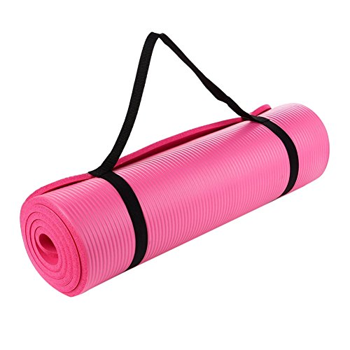 Adarl Beginner NBR Yoga Mat Fitness Mat Flat Support Mat Yoga Mat Safety And Environmental Pink