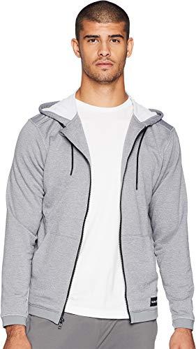 Hoody Hurley Zip - Hurley Men's Nike Dri-Fit Disperse Fleece Hoodie, Cool Grey//White L