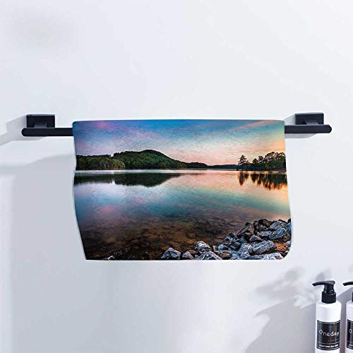 Lake Athletic Towel Lake Allatoona at Red Top Mountain State Park North of Atlanta Scenic Spring Sunrise for Family Guest Bathrooms Gym W27 x L12 - Holder Roll Atlanta Paper