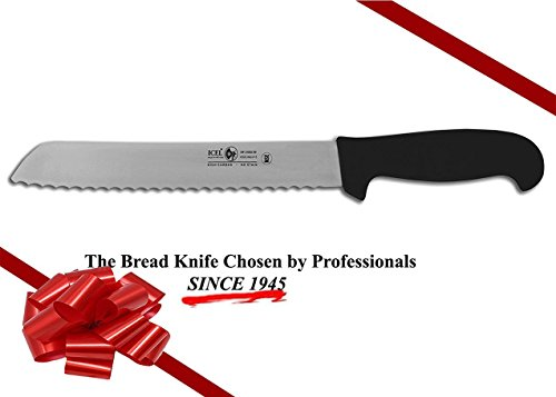 ICEL Cutlery 8-inch wavy edge Bread Slicer knife. NSF Approved, Black Handle by ICEL (Image #6)
