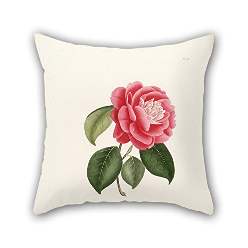 Artistdecor 18 X 18 Inches / 45 By 45 Cm Flower Throw Pillow Covers,2 Sides Is Fit For Family,Teens Boys,Home Theater,Bedding,Bar Seat 2 Seat Burgundy Leather Theater