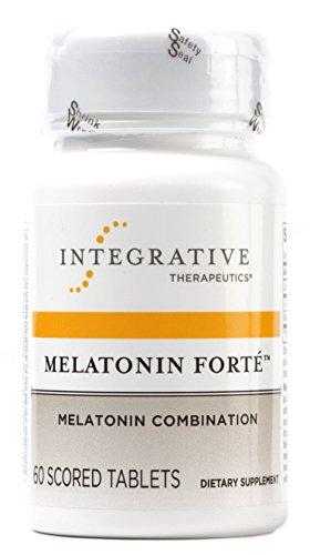Intégrative Therapeutics - Forte de mélatonine - mélatonine combinaison - 60 comprimés sécables