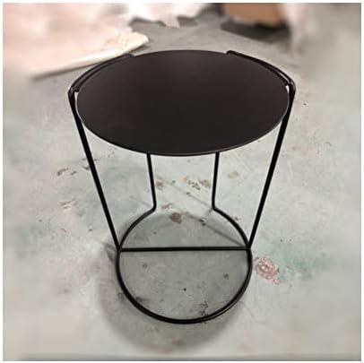 Groothandel Kwaliteit Sofa Side Table Fashion Creative Woonkamer Slaapkamer Ijzeren Frame Koffietafel Household Black 4.11 cU7dVGl