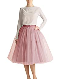 Womens A Line Short Knee Length Tutu Tulle Prom Party Skirt