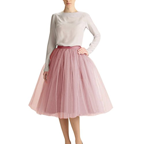 Wedding Planning WDPL Adult Tulle Skirt Bridesmaid Petticoat Tutu for Women Medium Dusty ()