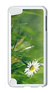 Ipod 5 Case,MOKSHOP Cool daisy meadow Hard Case Protective Shell Cell Phone Cover For Ipod 5 - PC White
