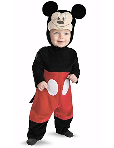 Disguise My First Disney Mickey Costume, Black/Red/White, 12-18