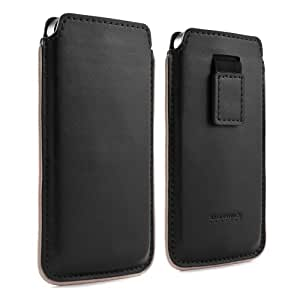Proporta 13943 Protective Leather Pouch Case Cover with Pull Tab for iPhone 5 - Retail Packaging - Black