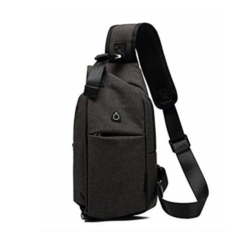 Mujeres Bag Para Backpack Viaje Shoulder Gray Gray Sling color Mochila Deep Crossbody De Chest Pollusui Hombres q5fPwz