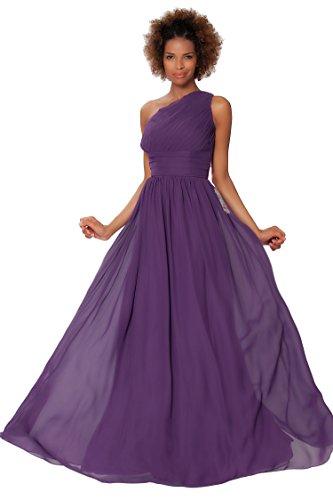 SEXYHER Gorgeous Encuadre de cuerpo entero Uno damas de honor del hombro vestido de noche formal - EDJ1577 P¨²rpura