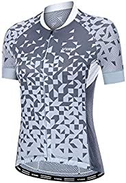 VEBE Women Cycling Jersey Short Sleeve Bike Tights Clothing Bicycle Shirts Tops with Pockets