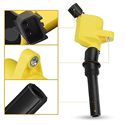 Ignition Coils Pack of 8 Compatible with Ford Expedition Mustang Explorer Crown Victoria 4.6L 5.4L F-150 XL F250 F550 4.6/5.4L - Yellow: Automotive