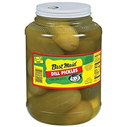 Best Maid Dill Pickles, 18-22 Count, 1 Gallon, (Pack of 2)