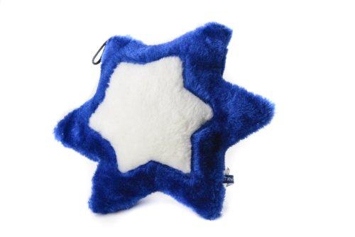 Copa Judaica Chewish Treat Star of David Squeaker Plush Dog Toy, Blue and White ()