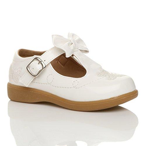 Mädchen Kleine Absatz T-Riemen Schmetterling Elegant Fesch Schuhe Größe 10 vHTk9Q3Z6