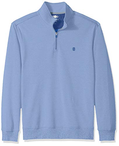 IZOD Men's Advantage Performance Quarter Zip Fleece Pullover, Cornflower Blue, - Zip Mens Fleece Quarter