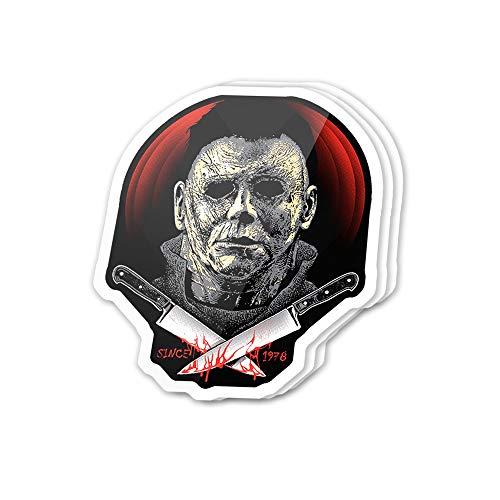 Kachi Art Cool Sticker (3 pcs/Pack,3x4 inch) Since 1978 Villain Fictional Character Halloween Stickers for Water Bottles,Laptop,Phone,Teachers,Hydro Flasks,Car