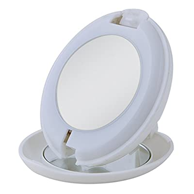 Zadro 10X/1X LED Lighted Compact Mirror with Flashlight