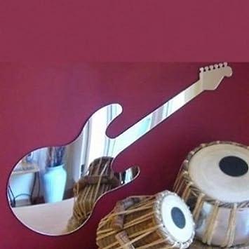 Super Cool Creations Guitarra eléctrica Estilo Dean Espejo - 60 cm x 20 cm: Amazon.es: Hogar