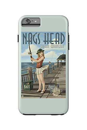 Nags Head, North Carolina - Pinup Girl Fishing (iPhone 6 Plus Cell Phone Case Cell Phone Case, - Heads Nags