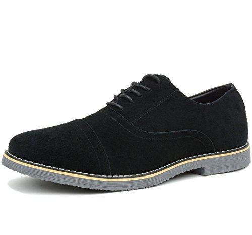 alpine swiss Ashton Mens Dress Shoes Genuine Suede Lace Up Oxfords Black 10 M (Alpine Mens Shoes)