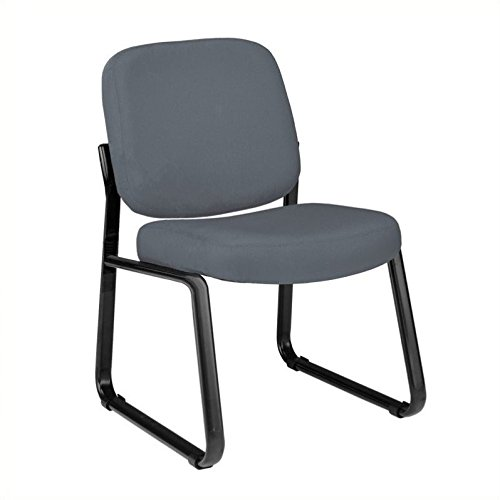 Armless Guest & Reception Sled-Base Chair (Gray) by OFM