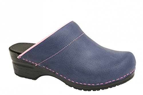 blau And Clogs Blue Eden Open Womens Mules Sanita BzIq0wz