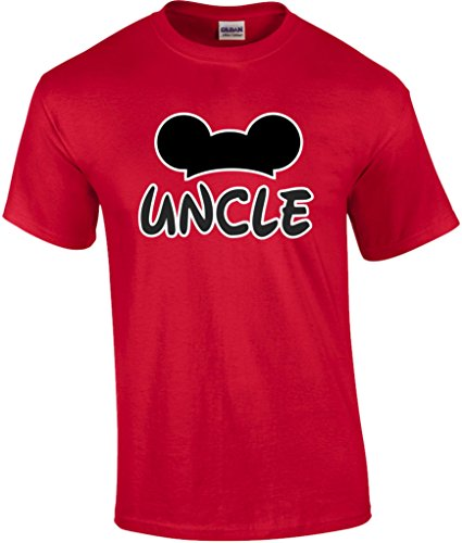 Mickey Dad Minnie Mom Disney FAMILY Vacation BIRTHDAY Matching Tshirts M UNCLE-Red