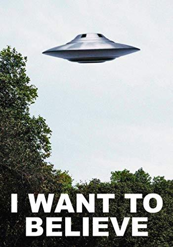 Believe Poster Print - briprints I Want to Believe Alien et Poster Print Size 24x18 Decoration semi Gloss Paper