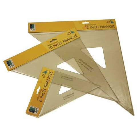 Inking Triangle - Aa 45/45/90 Triangle 10In Ink Edge