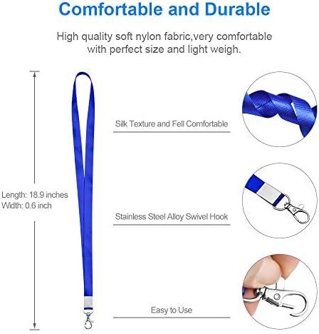 Women Comfortable for Skin Cruise Car Key 5 Colors for Id Badges Holder Premium Soft Nylon Lanyard for Kids 10PCS Mcyye Neck Lanyards Men Keys