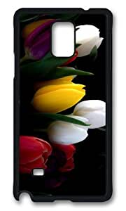 MOKSHOP Adorable Different Tulips Hard Case Protective Shell Cell Phone Cover For Samsung Galaxy Note 4 - PCB