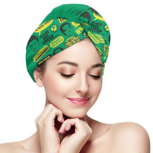 Gfiusgh Psych Pineapple Quote Mash Up Dry Hair Cap with Button,Hair Towel Wrap, Microfiber Hair Towel, Quick Dry Hair Wrap Towels - Hair Drying Towels Turban for Wet Hair -
