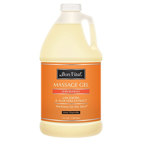Bon Vital' Original Massage Gel for a Versatile Massage Foundation to Relax Sore Muscles & Repair Dry Skin, For Massage Therapists Who Want Superior Glide & Gentle Friction for Clients, (Original Massage)