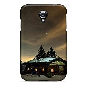 New Style EmptySpiral Hard Case Cover For Galaxy S4- Log Cabin Night