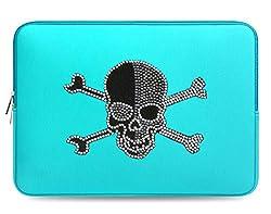 Design Crystal Bling Rhinestone Studded Turquoise Laptop Case