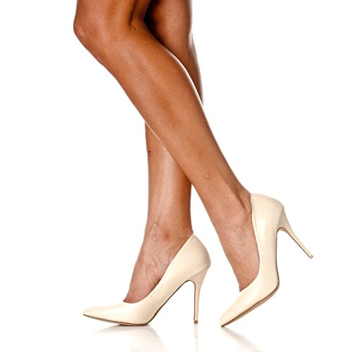 Pointed Pump Riverberry Beige Gaby Women's Heels Snake Toe Stiletto Closed ZxAPqE