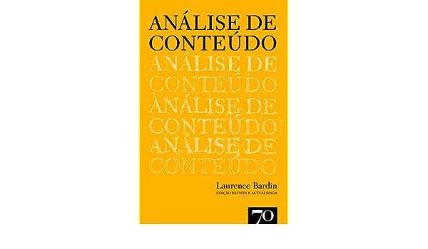 Analise De Conteudo Laurence Bardin Pdf