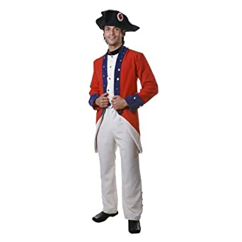 sc 1 st  Amazon.com & Amazon.com: Adult Colonial Soldier Costume By Dress Up America: Clothing